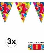 1 jaar vlaggenlijnen 3x met gratis sticker