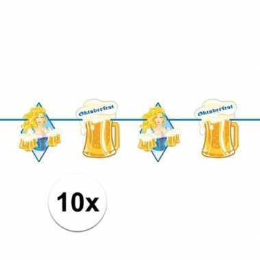 10x beierse/bayern print slinger met bier 10 meter feestversiering