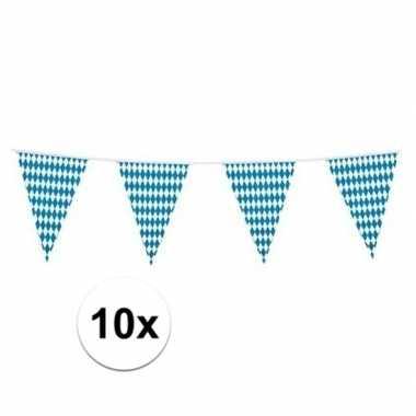 10x bierfeest beieren vlaggetjes/slingers 10 meter