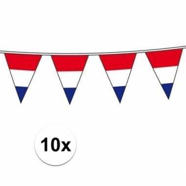10x holland vlaggenlijnen van 10 meter