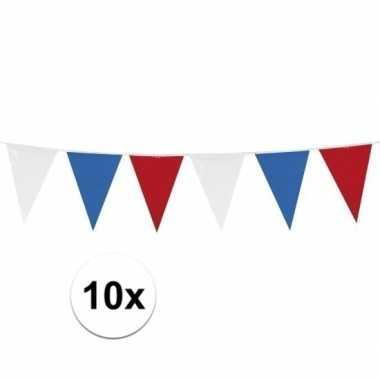 10x vlaggenlijnen holland van 10 meter