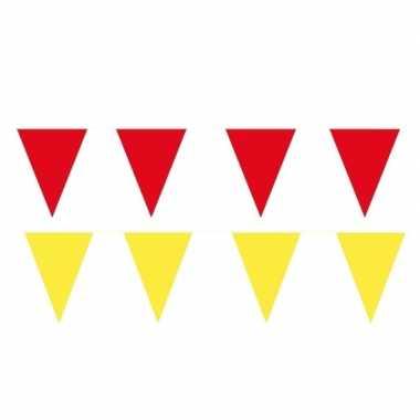 120 meter gele/rode buitenvlaggetjes