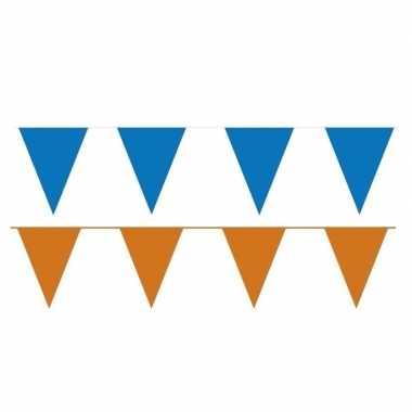120 meter oranje/blauwe buitenvlaggetjes