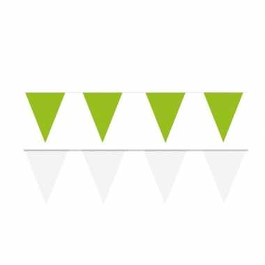120 meter witte/groene buitenvlaggetjes