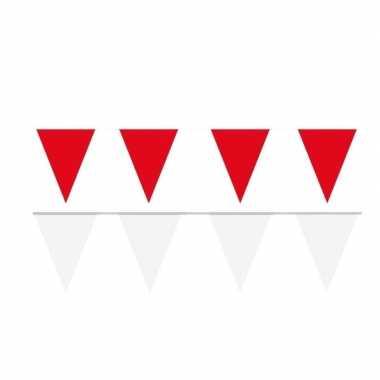 120 meter witte/rode buitenvlaggetjes