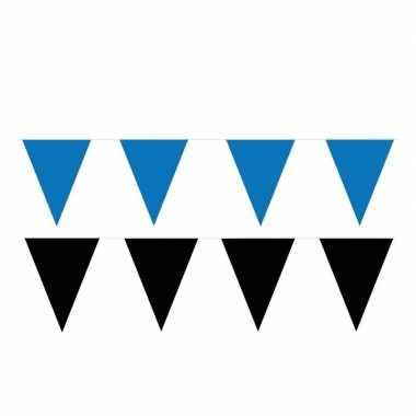 120 meter zwart/blauwe buitenvlaggetjes