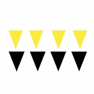 120 meter zwart/gele buitenvlaggetjes