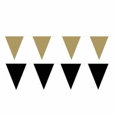 120 meter zwart/gouden buitenvlaggetjes