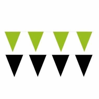 120 meter zwart/groene buitenvlaggetjes