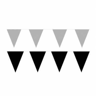 120 meter zwart/zilveren buitenvlaggetjes
