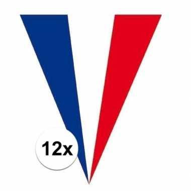 12x franse vlaggenlijnen 5 meter