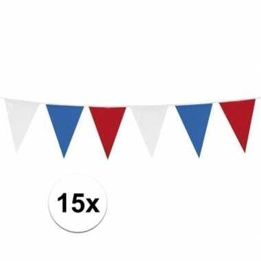 15x vlaggenlijnen holland van 10 meter