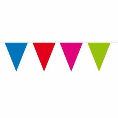 1x mini vlaggetjeslijn / gekleurde slingers 300 cm