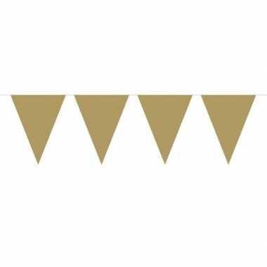 1x mini vlaggetjeslijn / gouden slingers 300 cm