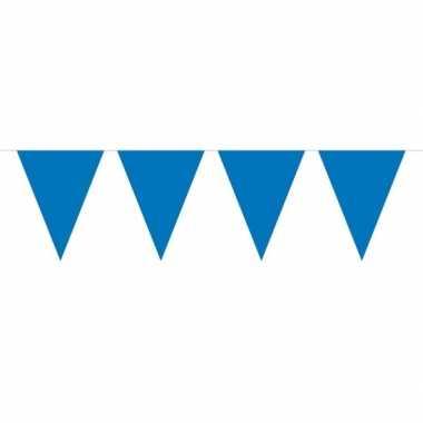 1x mini vlaggetjeslijn slingers blauw 300 cm