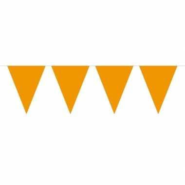 1x mini vlaggetjeslijn slingers oranje 300 cm