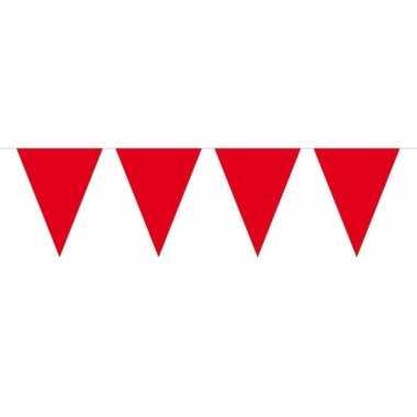 1x mini vlaggetjeslijn slingers rood 300 cm