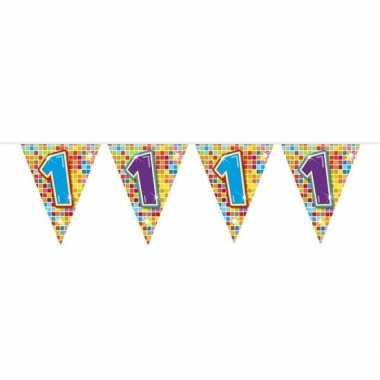 1x mini vlaggetjeslijn slingers verjaardag versiering 1 jaar
