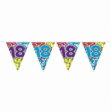 1x mini vlaggetjeslijn slingers verjaardag versiering 18 jaar