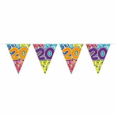 1x mini vlaggetjeslijn slingers verjaardag versiering 20 jaar
