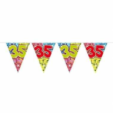1x mini vlaggetjeslijn slingers verjaardag versiering 35 jaar
