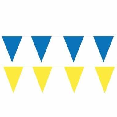 200 meter gele/blauwe buitenvlaggetjes