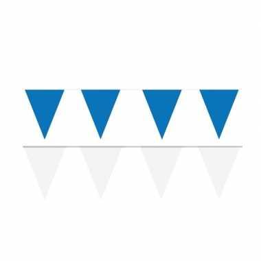 200 meter witte/blauwe buitenvlaggetjes