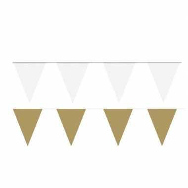 200 meter witte/gouden buitenvlaggetjes