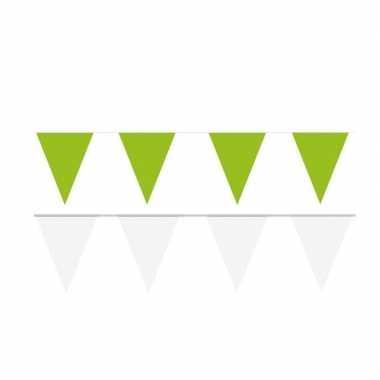 200 meter witte/groene buitenvlaggetjes