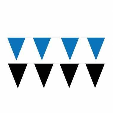 200 meter zwart/blauwe buitenvlaggetjes