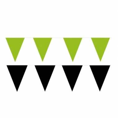 200 meter zwart/groene buitenvlaggetjes