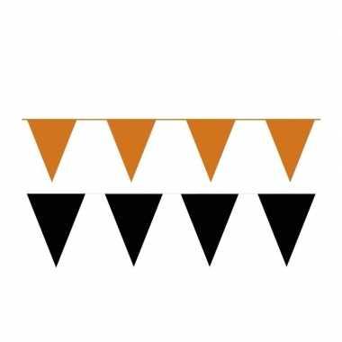 200 meter zwart/oranje buitenvlaggetjes
