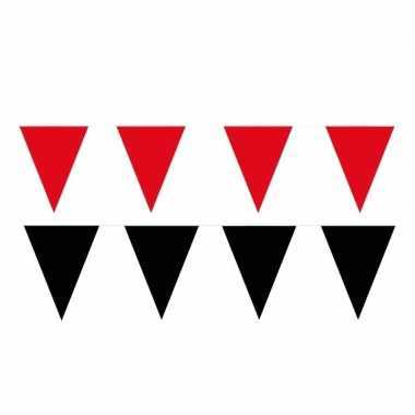 200 meter zwart/rode buitenvlaggetjes