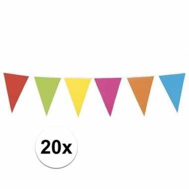 20x mega vlaggenlijn gekleurd xl 10 meter