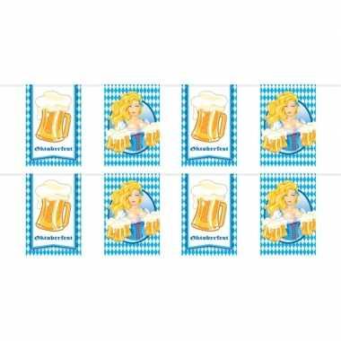 2x beierse/bayern print rechthoekige vlaggenlijn/slinger 10 meter fee