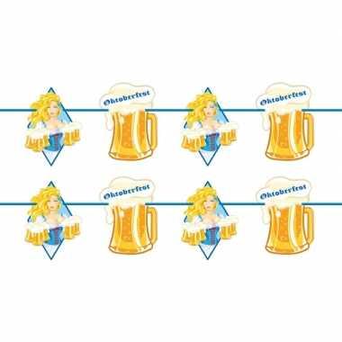 2x beierse/bayern print slinger met bier 10 meter feestversiering