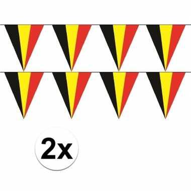 2x belgische vlaggenlijn / slinger 5 meter