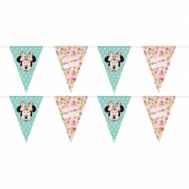 2x disney minnie mouse tropical vlaggenlijnen kinderverjaardag