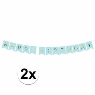 2x happy birthday feest slinger 175 cm