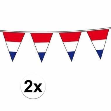 2x holland vlaggenlijnen van 10 meter