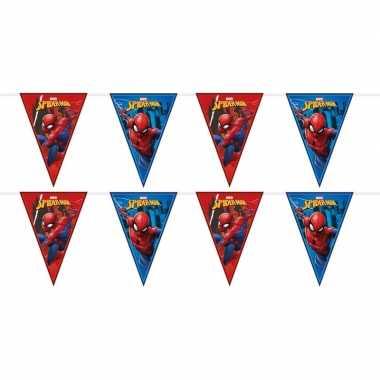 2x marvel spiderman vlaggenlijnen kinderverjaardag