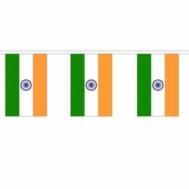 2x polyester vlaggenlijn van india 3 meter