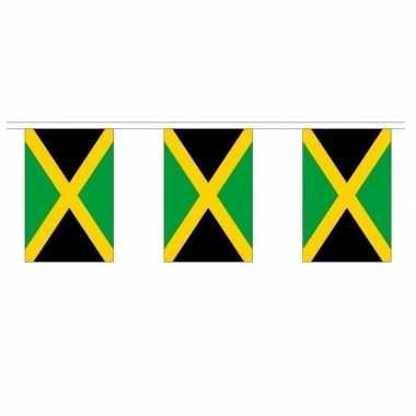 2x polyester vlaggenlijn van jamaica 3 meter