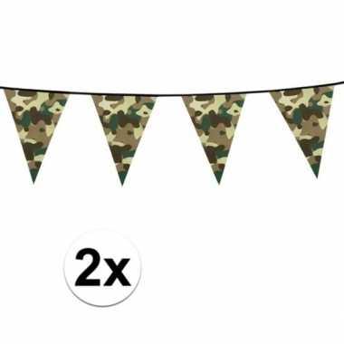 2x slinger met legerprint 6 meter