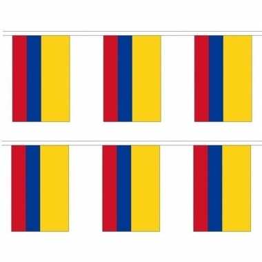 2x stoffen vlaggenlijn colombia 3 meter