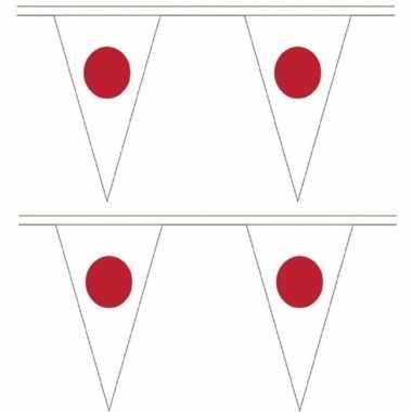 2x stuks japan landen punt vlaggetjes 5 meter