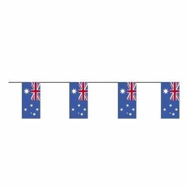 2x stuks papieren vlaggenlijnen australie
