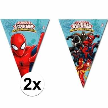 2x stuks spiderman warriors slingers 2,3 meter