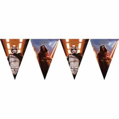 2x stuks star wars thema vlaggenlijnen slingers 2 meter