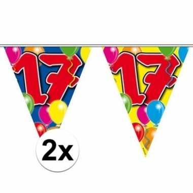 2x vlaggenlijn 17 jaar 10 meter